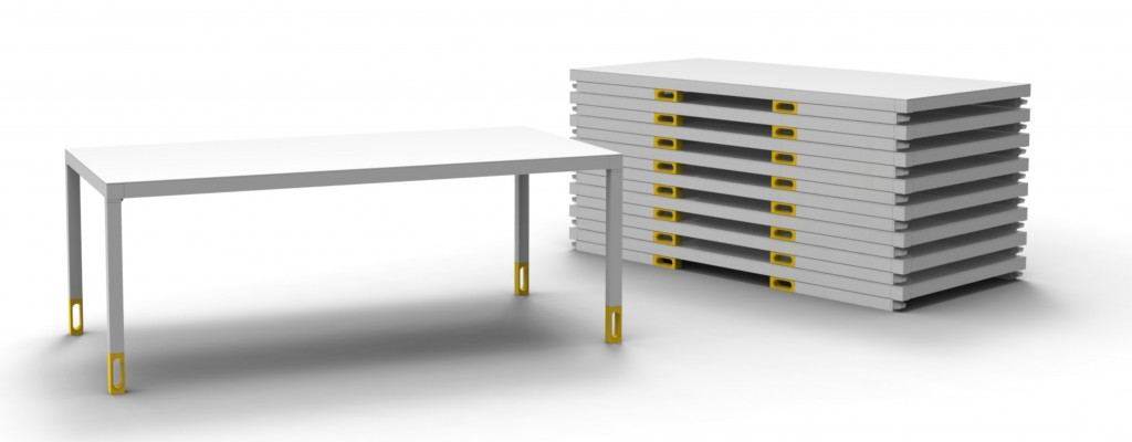 Safe Folding Table For Vitra by Jonas Trampedach